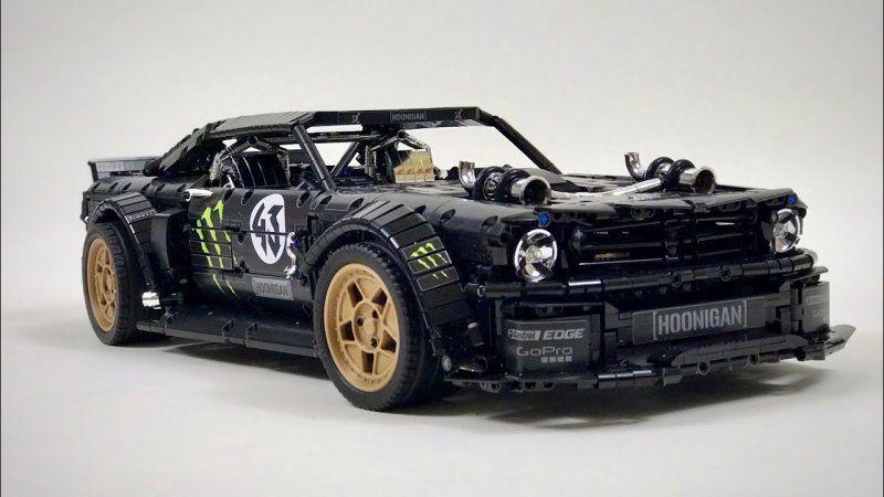 Hier ist Ken Blocks Ford Mustang Hoonicorn aus Legoblöcken Hier ist Ken Blocks Ford Mustang Hoonic