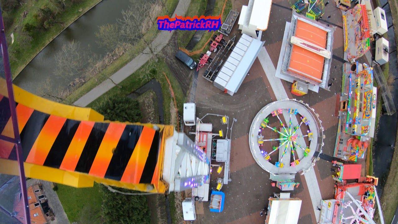Konga Küchenmeister ~ Skyrider stand up roller coaster on ride pov canadas wonderland