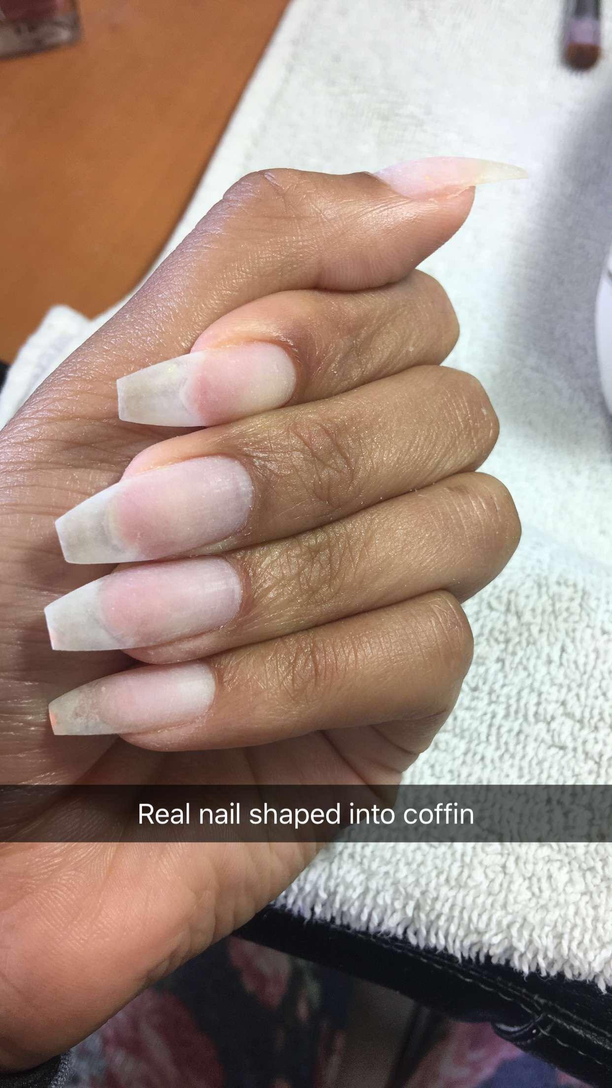 No Acrylic Real Natural Nail Natural Nails Pretty Nails Plain Acrylic Nails