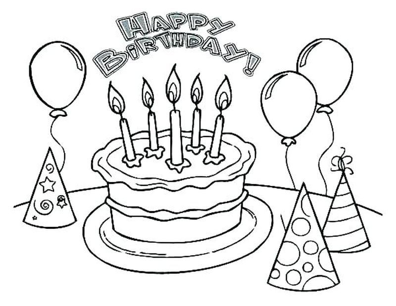 Birthday Cake Coloring Page With No Candles Here Is A Free