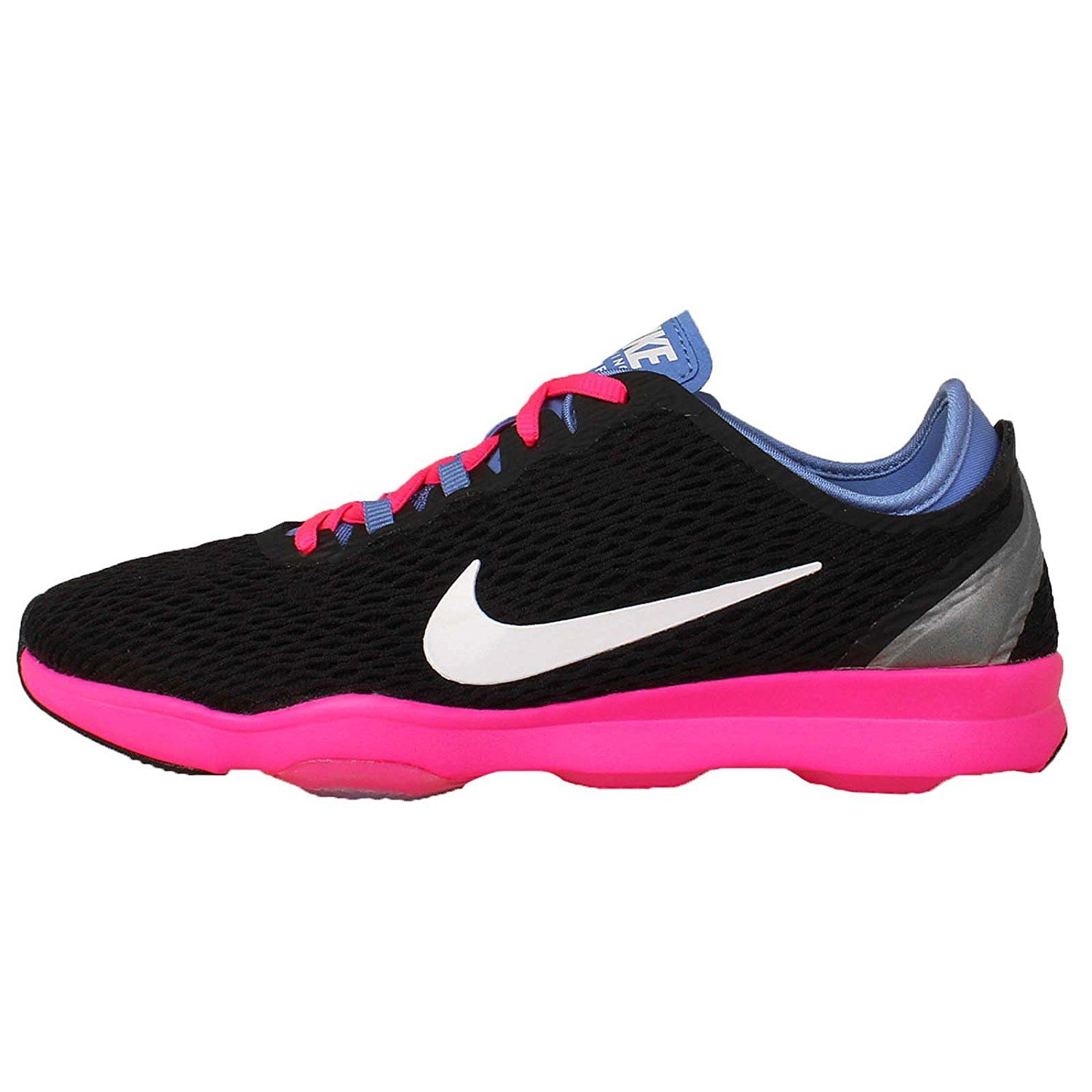 fb14669e0068 Nike Womens Zoom Fit Training Sneaker Black White-Polar-Pink Pow Shoe
