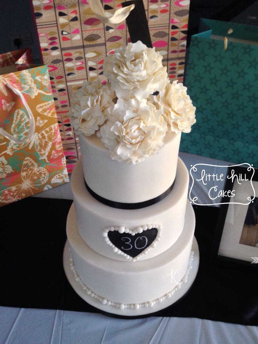 Pearl Wedding Anniversary Cake   Wedding anniversary cake ...