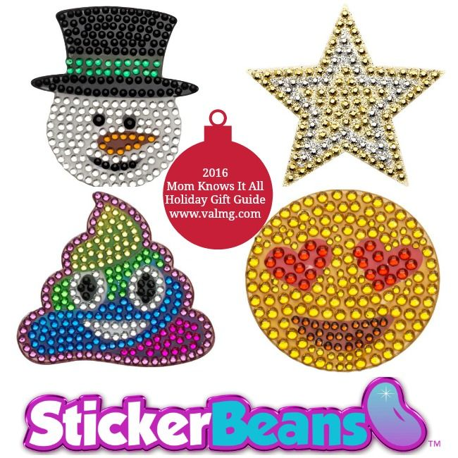 2016 Mom Knows It All HOLIDAY GIFT GUIDE - StickerBeans Rhinestone Stickers