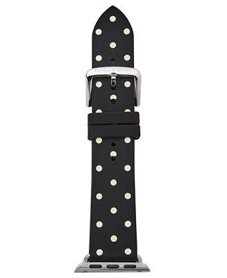 kate spade new york Black & White Dot Silicone Apple Watch