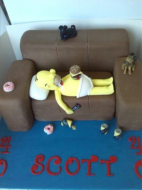 Homer Simpson Sofa Cake My Cakes Cake Homer Simpson