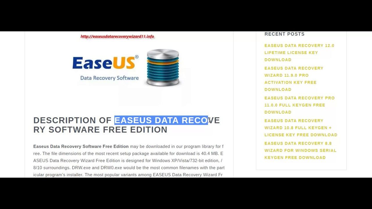 easeus data recovery wizard 12.0 0 serial key