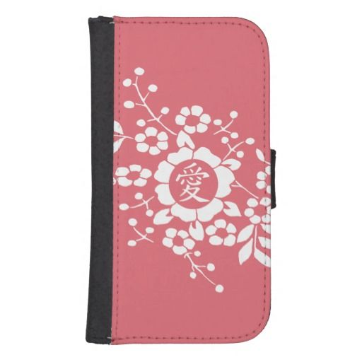 Paper Cut Flowers • Lovely Pink Phone Wallet for iPhone 5/5s and Samsung Galaxy S4
