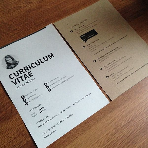 Personal Presentation - CV\'s & Business Cards on Behance | Resumes ...