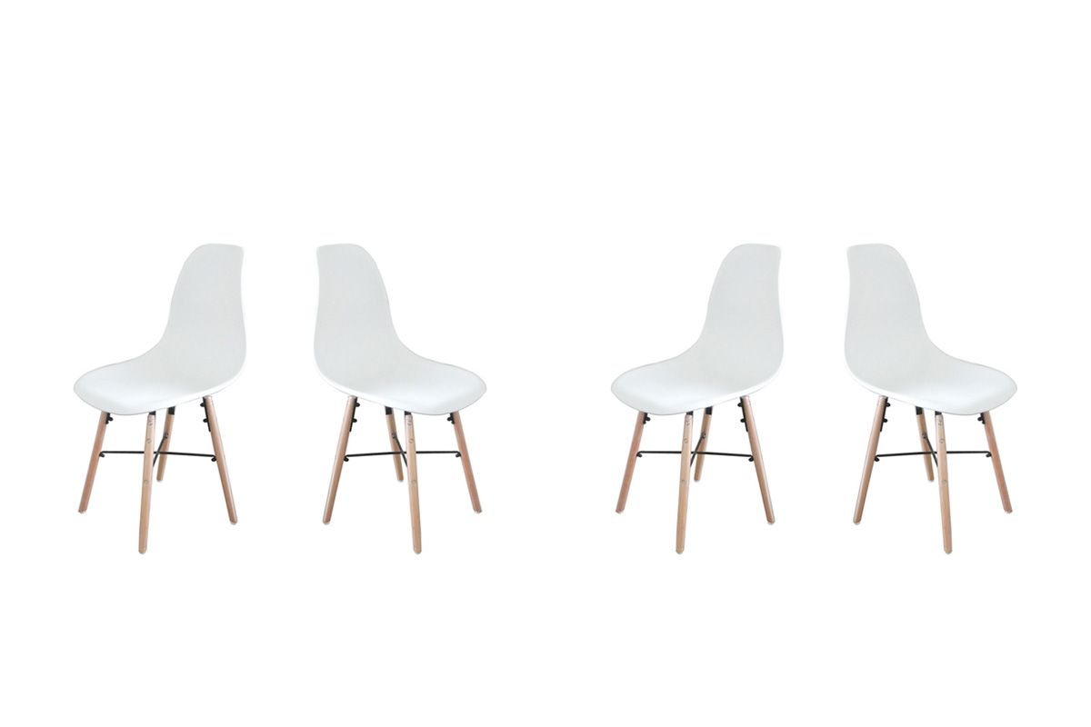 Finest Vente Potiron Mobilier Chaises Sixties Cross Blanc With Privee