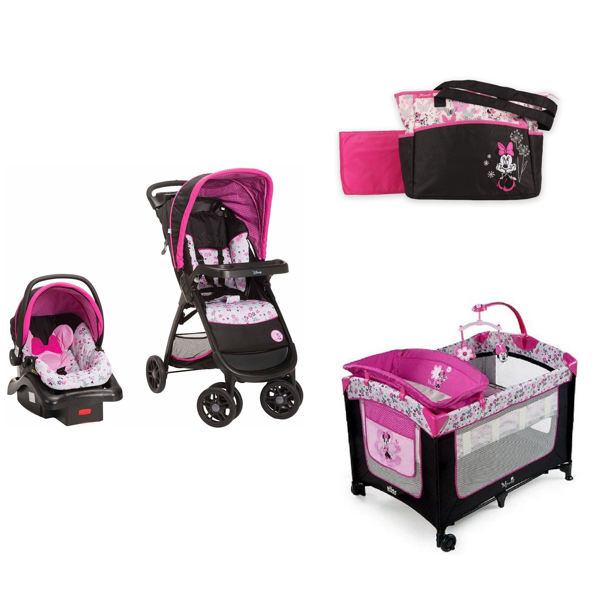 Minnie Mouse Infant Car Seat And Stroller Disney Minnie Baby Bundle Baby Gear Bundle Collection