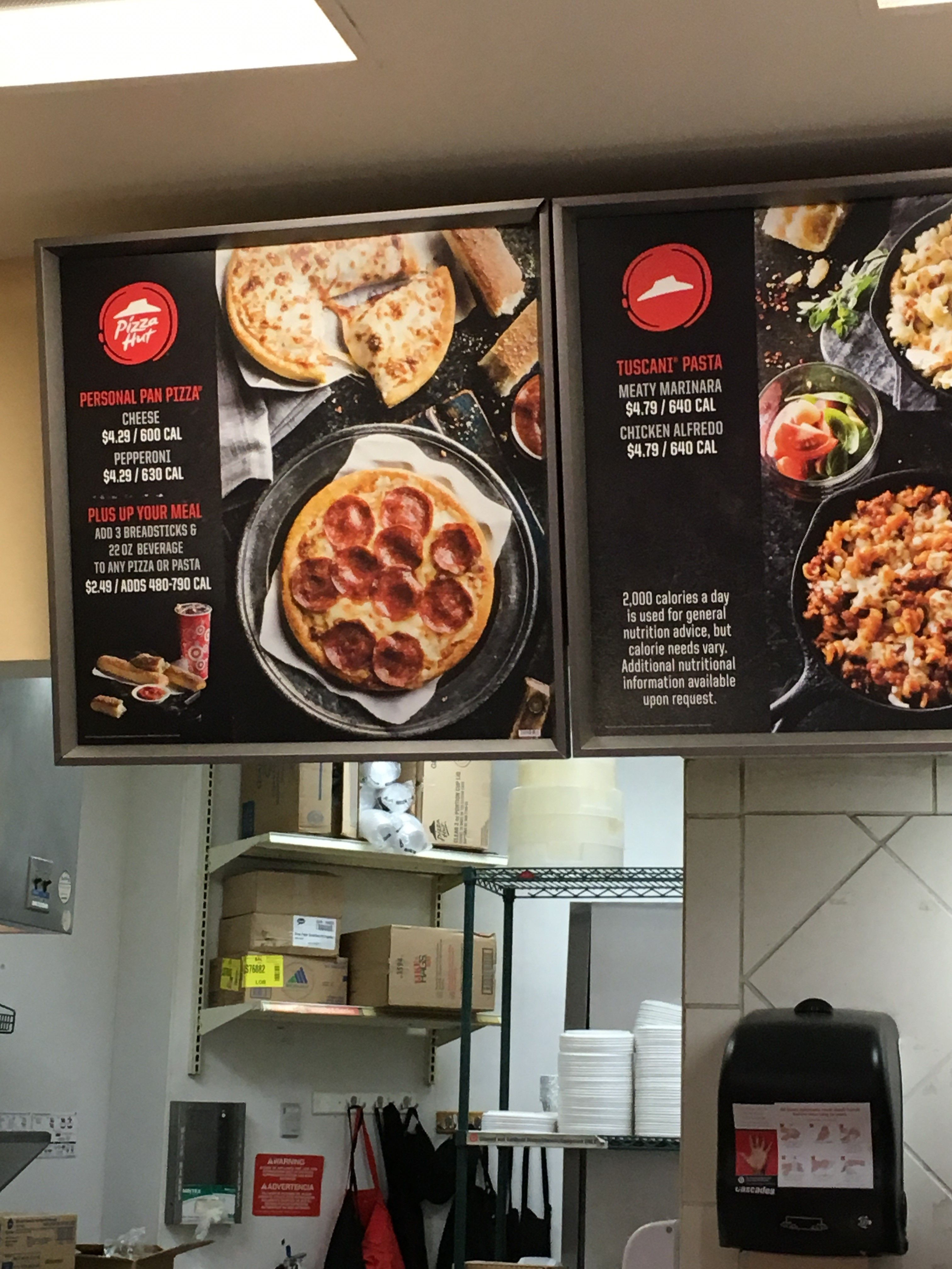 Target Pizza Hut Washington Dc May 2017 Pan Pizza Breadsticks Nutrition Advice