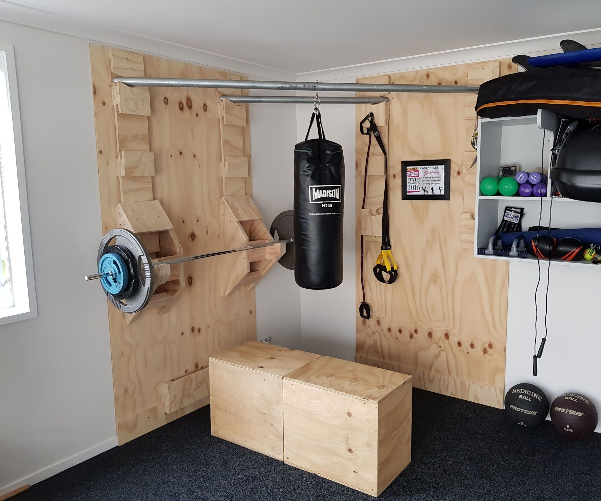 Functional corner home gym fitness fitnessstudio