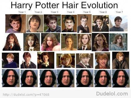 Image Result For Daniel Radcliffe Hair Evolution Harry Potter