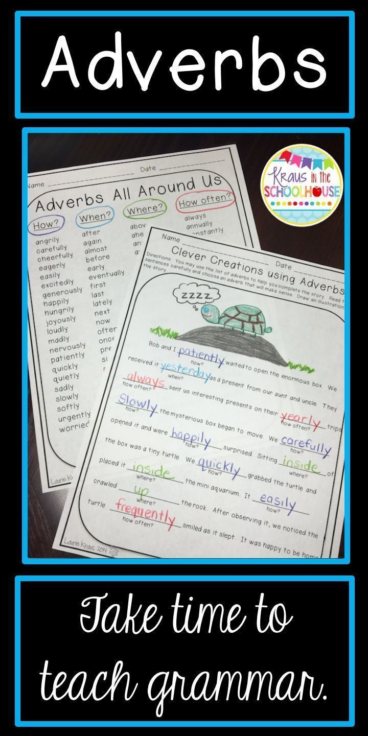 Adverbs Activities Teaching grammar, Adverb activities