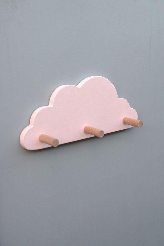 Wall Hooks For Kids Pink Cloud Coat Hook Nursery Decor