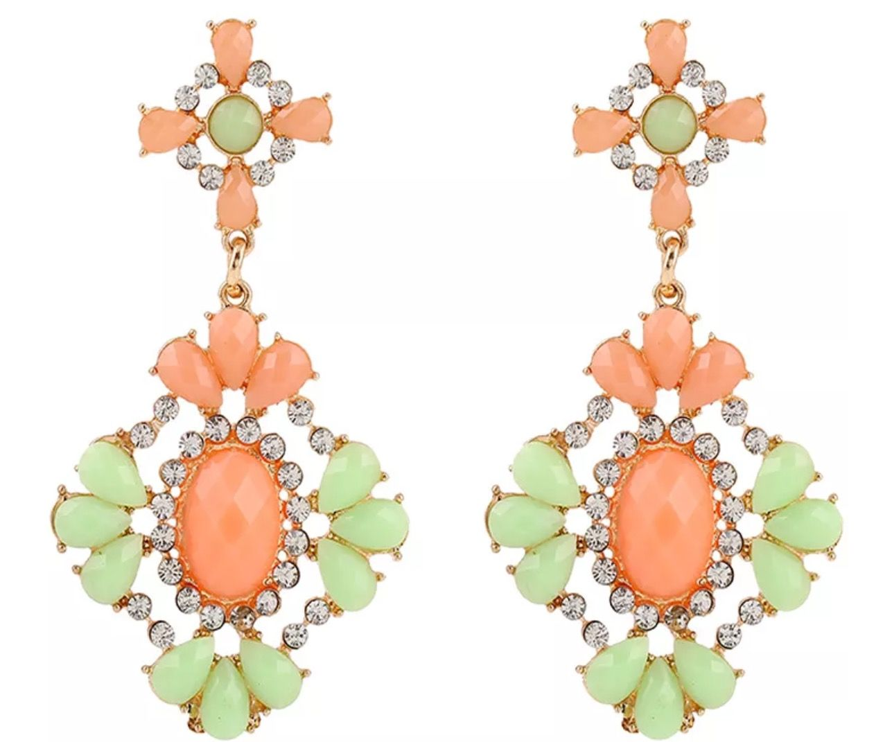 Peach chandelier earring kj jewelry fashion jewelry pinterest peach chandelier earring kj jewelry arubaitofo Images