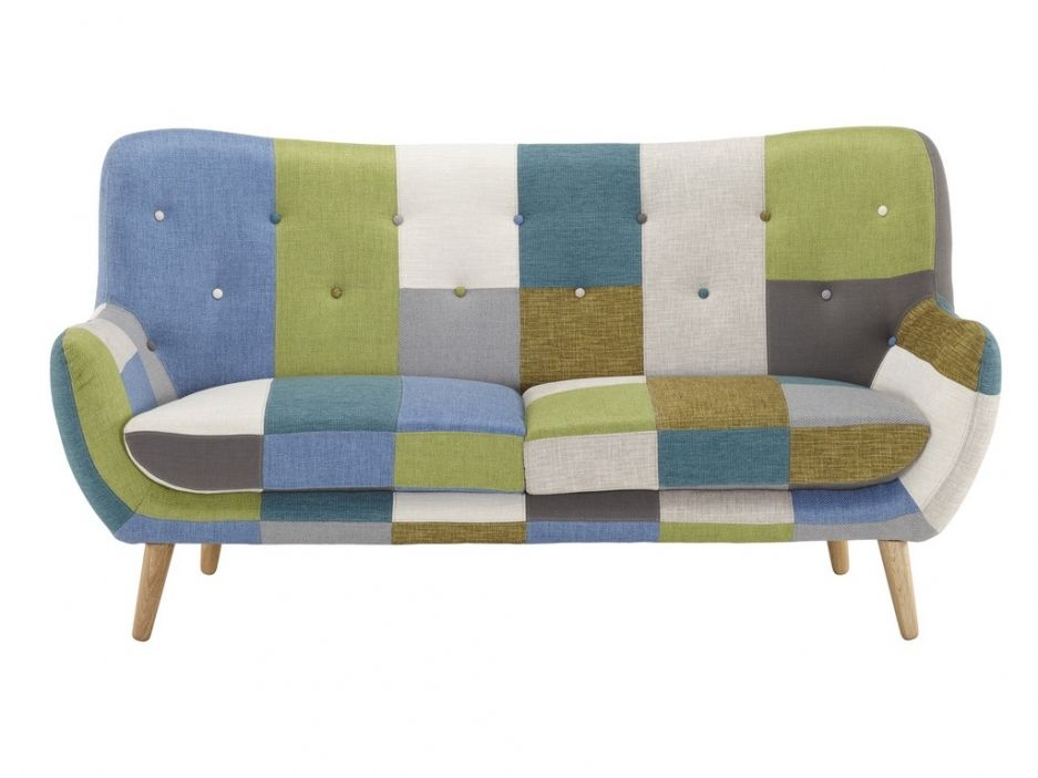 STEED Fauteuil patchwork avec accoudoirs