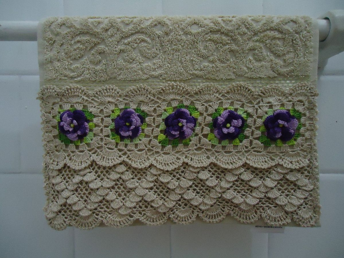 toalha de lavabo broder pinterest tricot crochet et serviettes. Black Bedroom Furniture Sets. Home Design Ideas