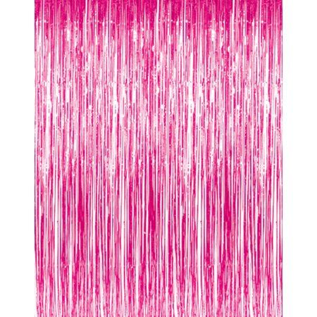 Tinsel Curtain Hot Pink Walmart Com In 2020 Hot Pink Decor