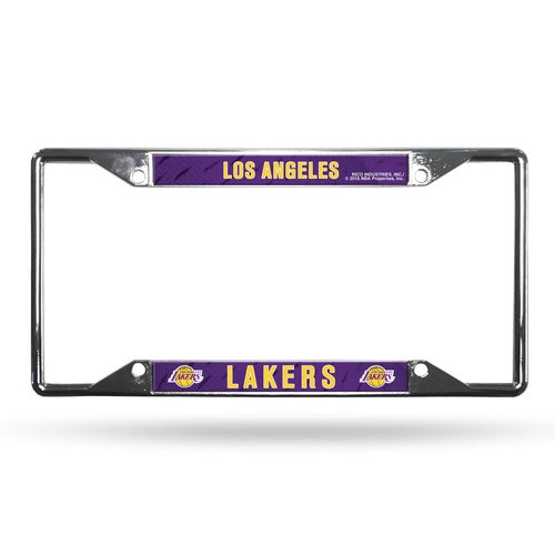 Los Angeles Lakers License Plate Frame Chrome EZ View | Los angeles ...