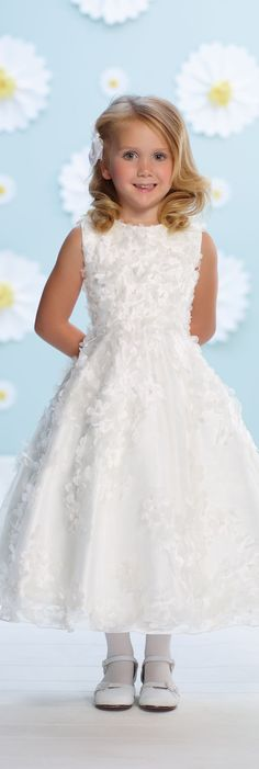 Joan Calabrese for Mon Cheri - Style No. 116388 #flowergirldresses