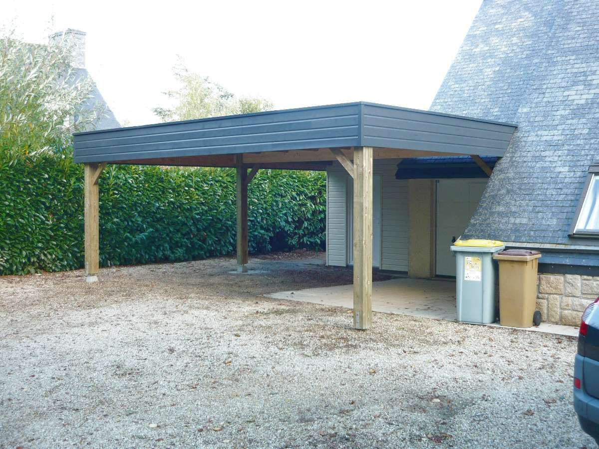 le peron creations carport ouvert accol devant le garage