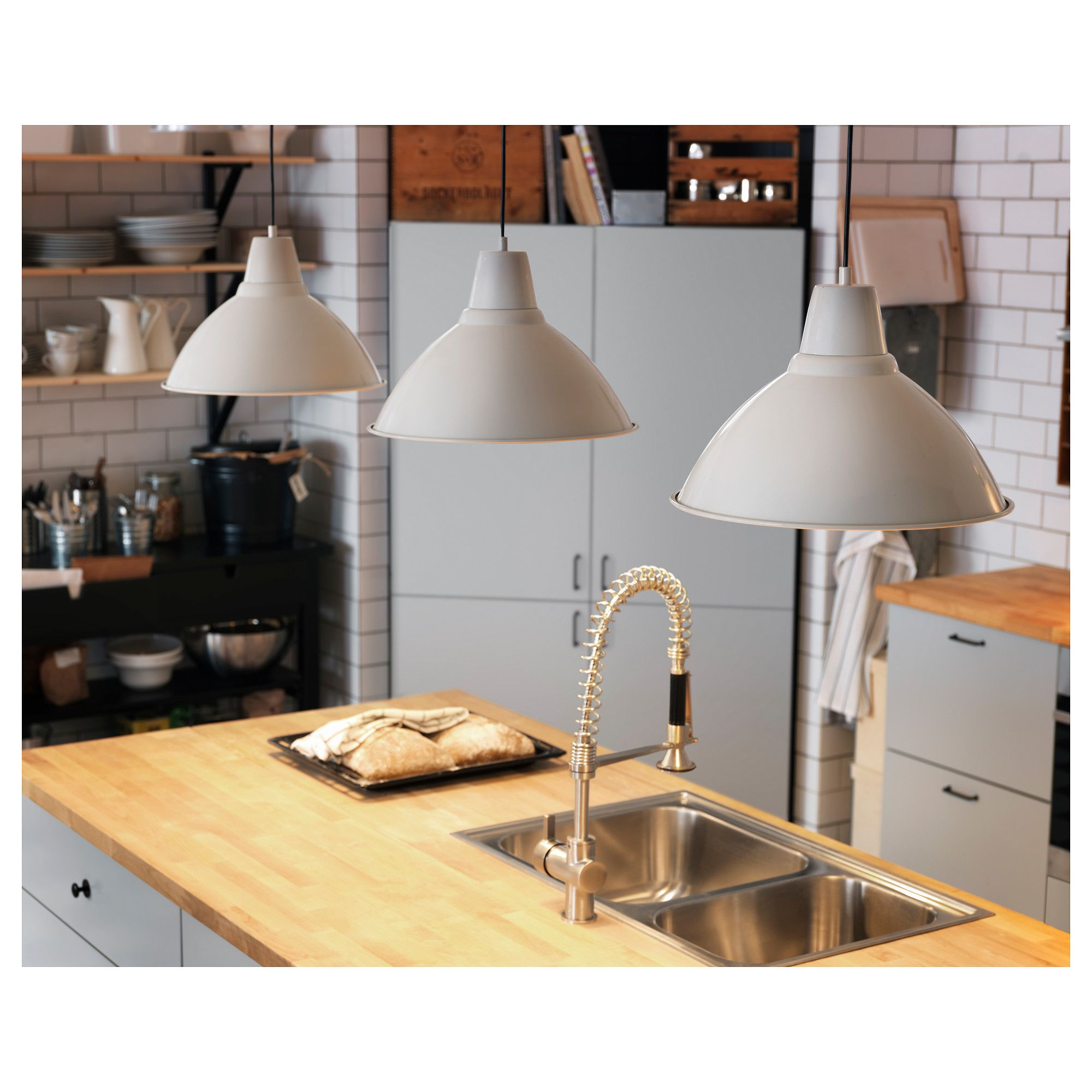 IKEA - FOTO, Pendant lamp, off-white, , Gives a directed light. Good ...