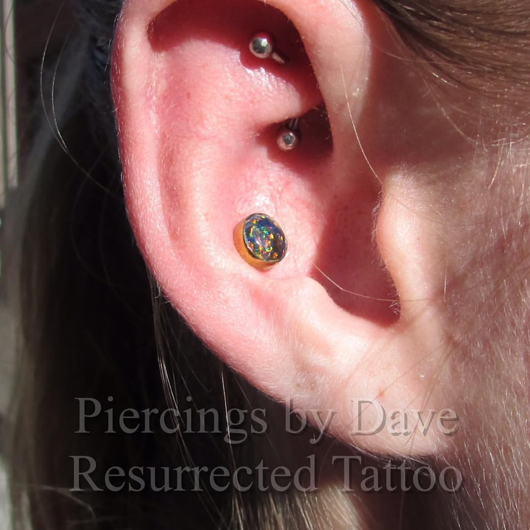 Nose piercing 6mm  Was able to check out a healed conch piercing from last summer with