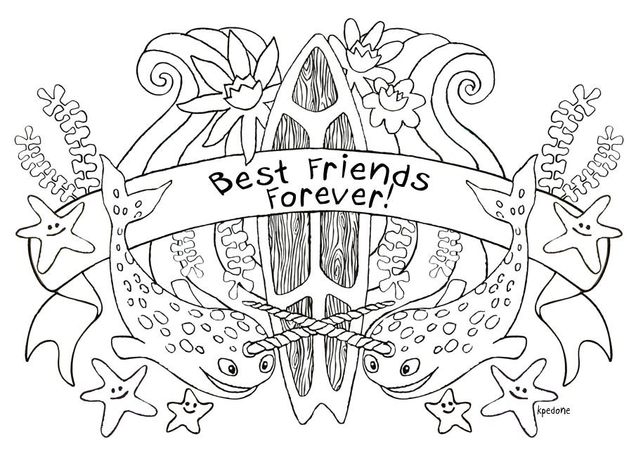 Best Friend Coloring Pages Best Friend Coloring Pages Coloring Pages For Kids Kids Coloring Pages Coloring Pages For Girls Best Friends Forever