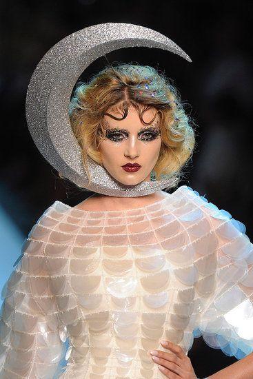 Haute fashion ... different interpretation for lady in the moon