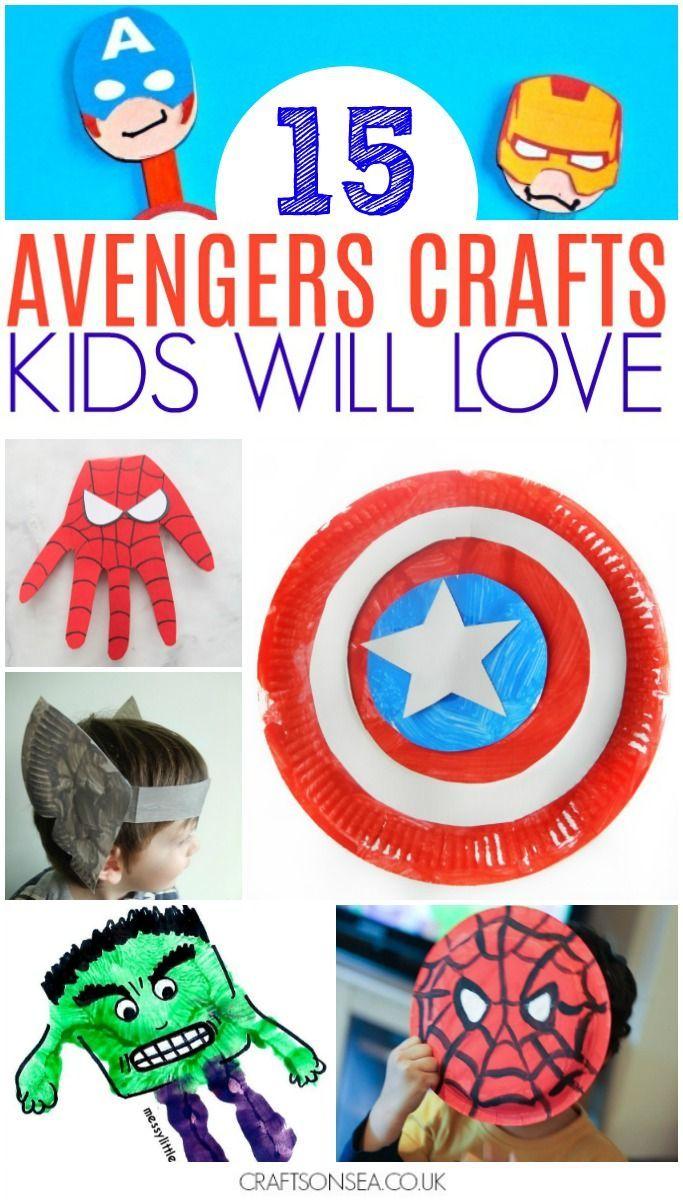 15 Super Cool Avengers Crafts For Kids #superherocrafts