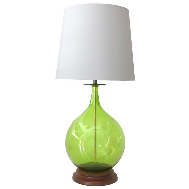 Blenko Green Table Lamp Lamp Table Lamp Green Table Lamp