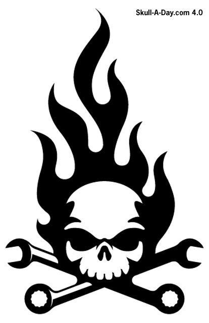 Skull Amp Wrenches Icon Craft Ideas Pinterest Icons