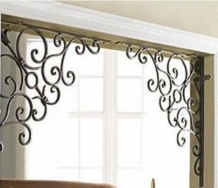 Door Frame Decoration wrought iron door iron gate flower tripod wrought iron door angle