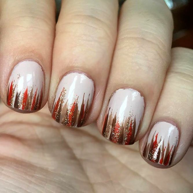 34 Beautiful Thanksgiving Nail Art Designs thanksgiving