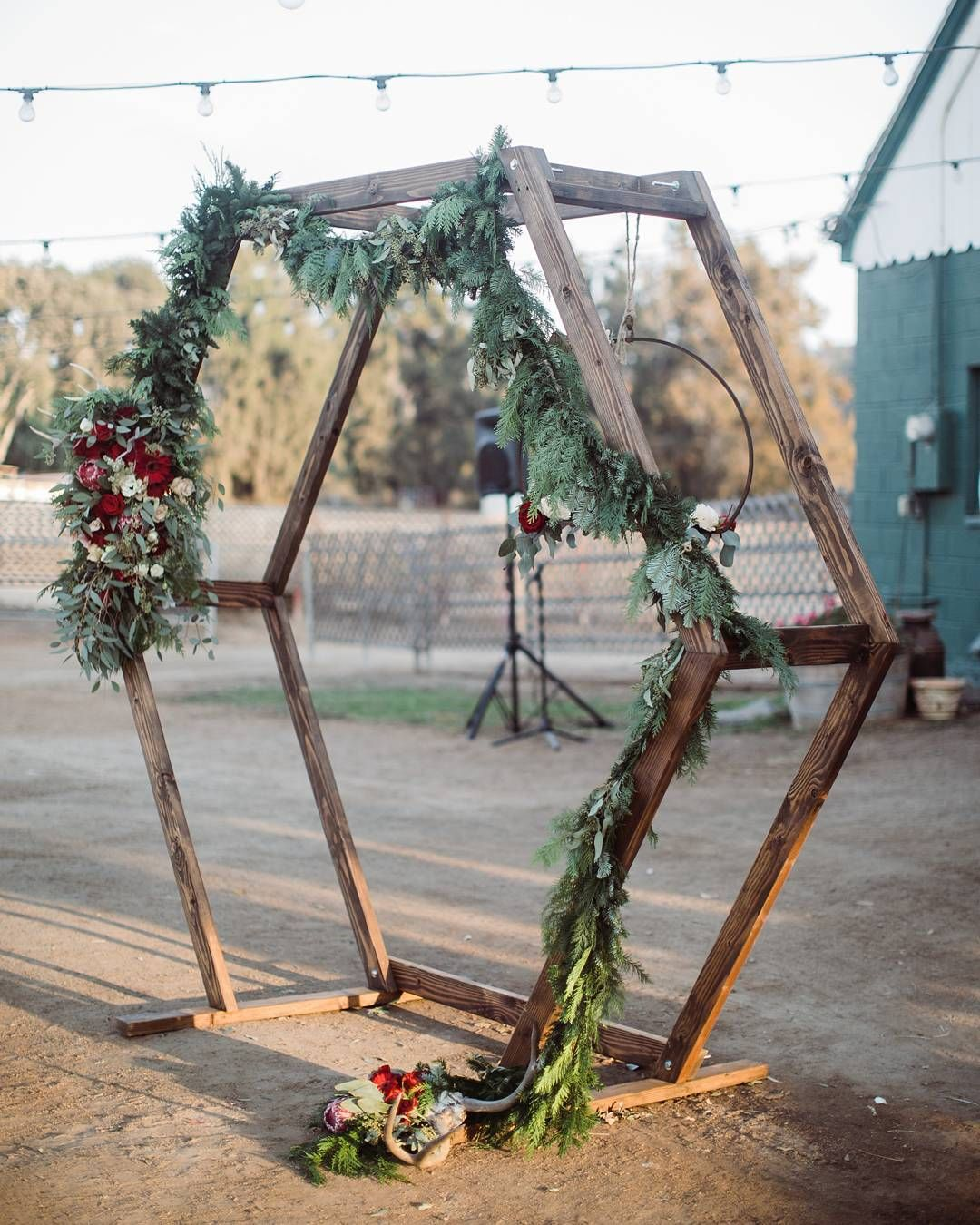 Image result for making a hexagon wedding arch diy
