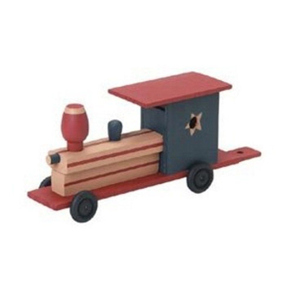 Unfinished Train Wood Craft Kit (Unfinished When Fully