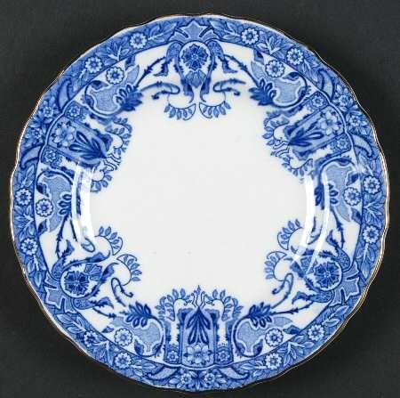 Antique Art Nouveau Flow Blue Plates I Found These At A Flea Market For 2 Dollars Each Flow Blue Flow Blue Dishes Blue Plates