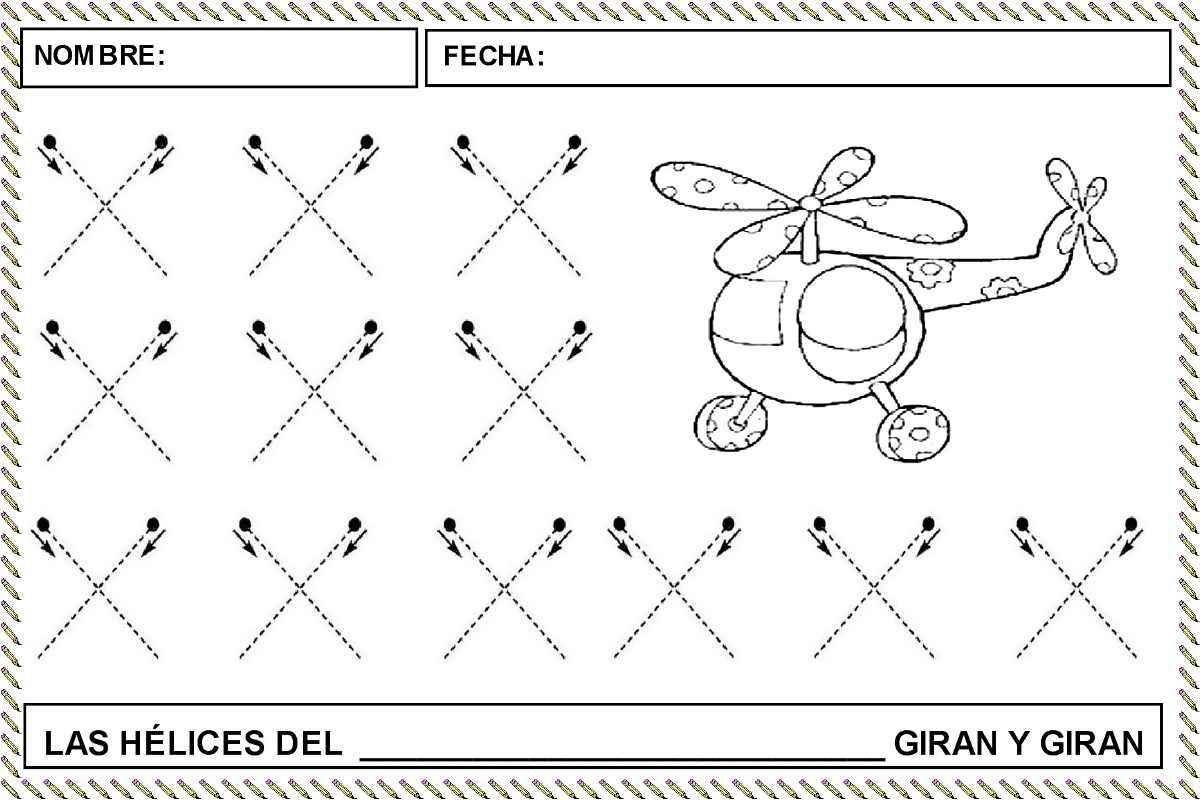 Fichas para trabajar el trazo cruzado » Actividades infantil ...