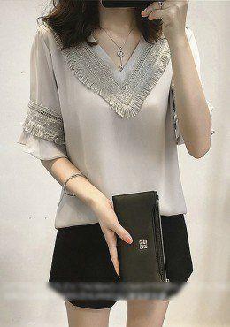 Buy V-Neck Tassel Blouse | mysallyfashion.com Malaysia