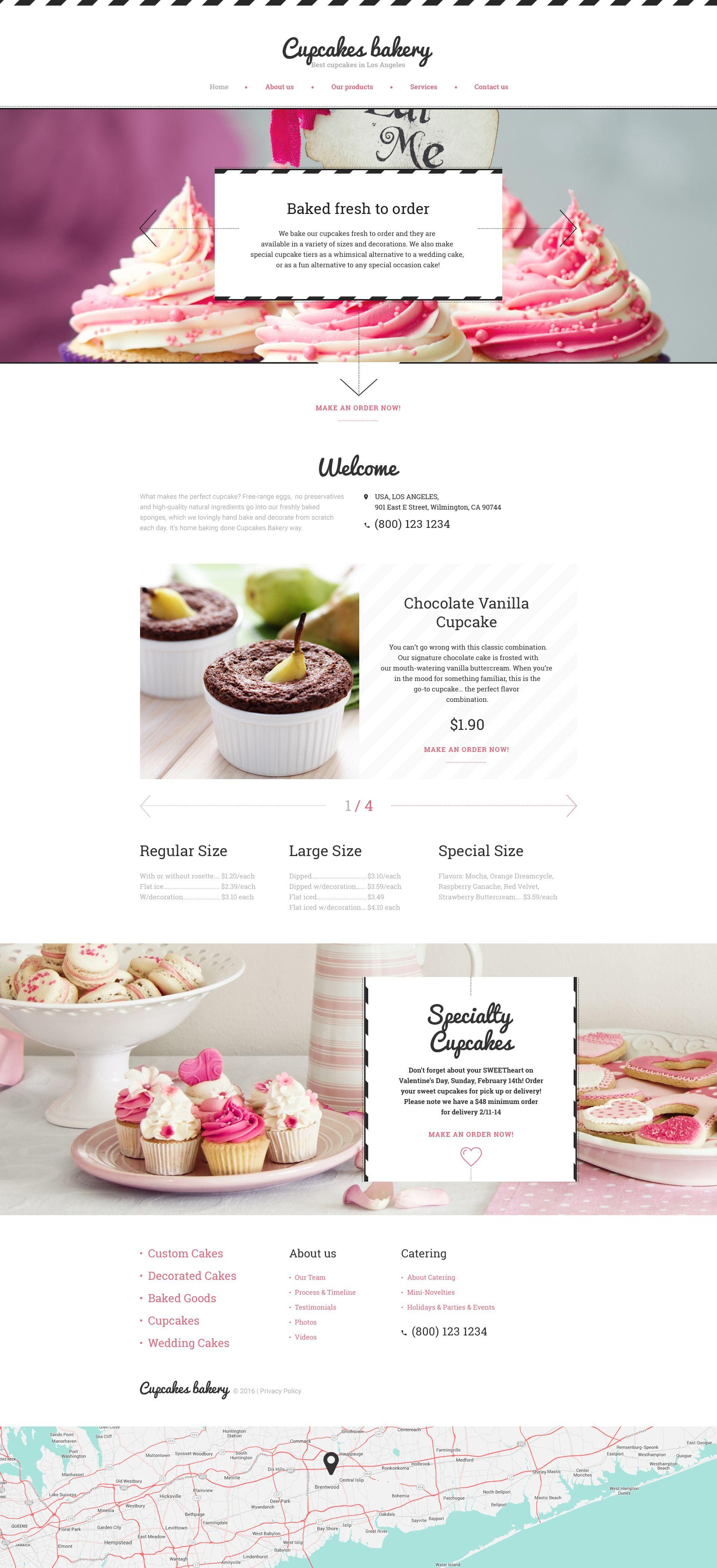 Cupcakes Bakery Website Template New Website Templates Bakery