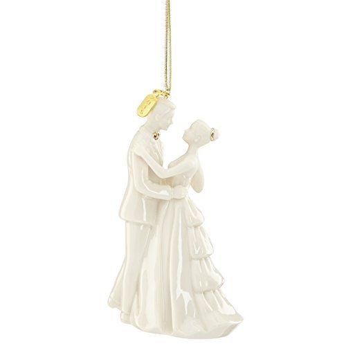 """Lenox 2016 """"Always and Forever"""" Bride and Groom Ornament"""