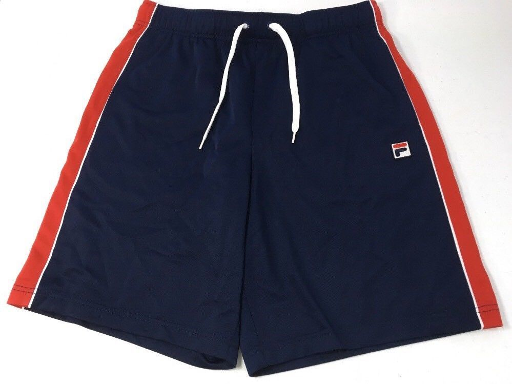 3cb8ad3f4cdb Fila Athletic Shorts Men Size Medium Blue Red White Retro Basketball  Fitness New  FILA  Shorts