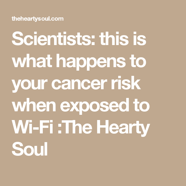 Scientists: this is what happens to your cancer risk when exposed to Wi-Fi :The Hearty Soul