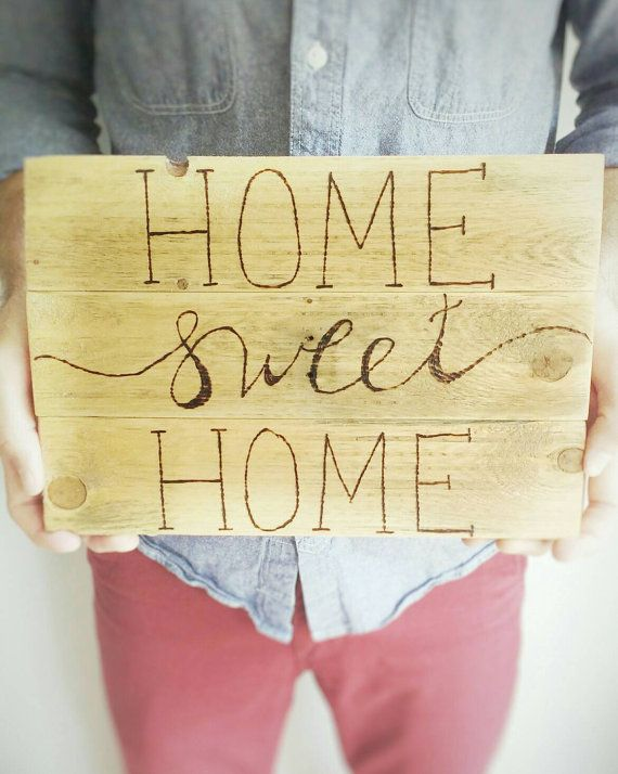 home sweet home, pallet wood sign, home decor, rustic wall art | DIY ...