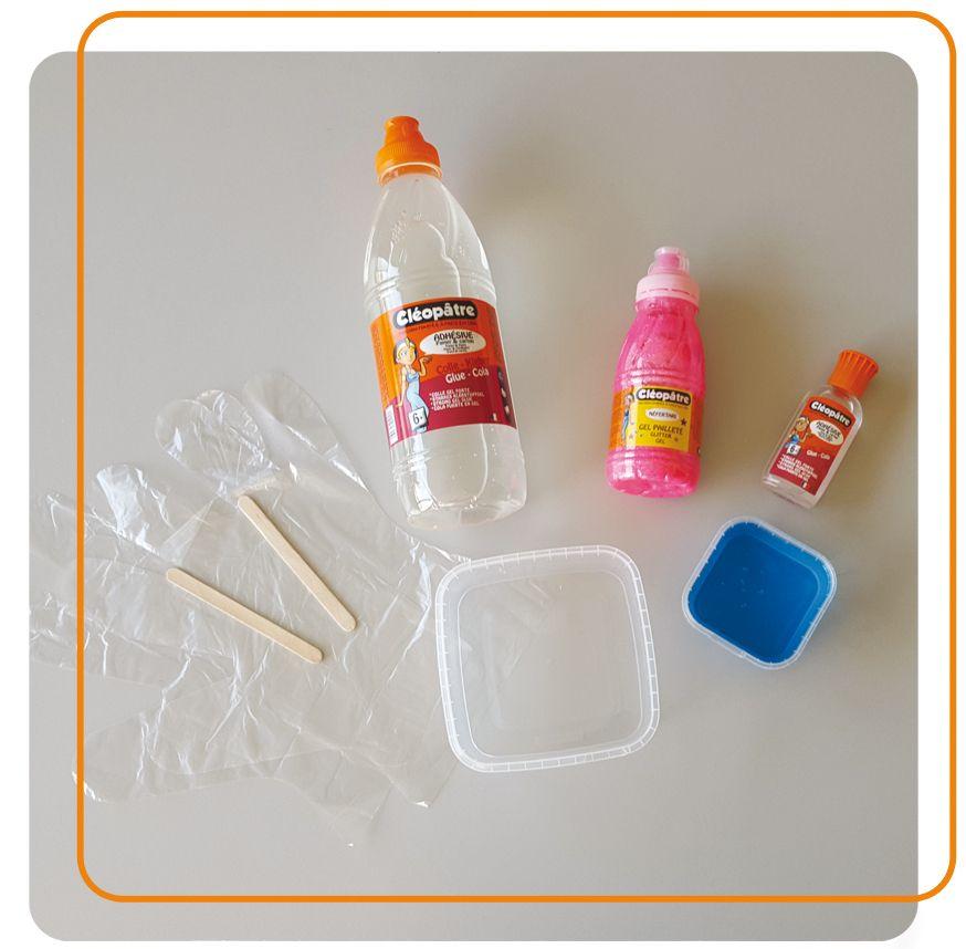 mat riel du slime bricolage ac enfant recette de slime slime et tuto. Black Bedroom Furniture Sets. Home Design Ideas