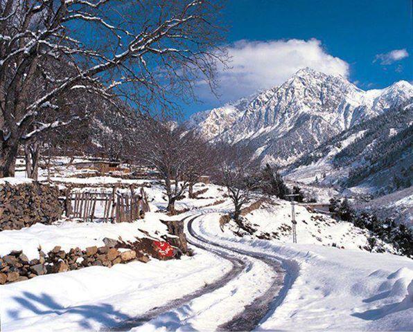 winter season in matiltan village kalam swat pakistan