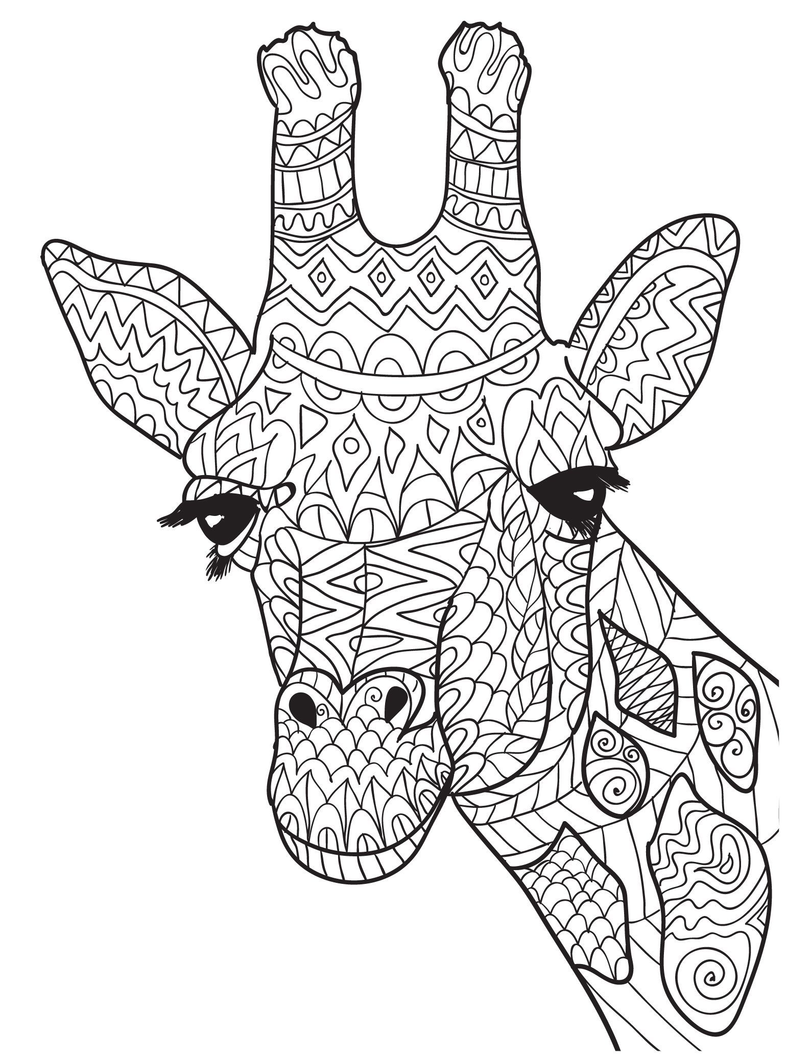 Zentangle Giraffe Head Coloring Picture Giraffe Coloring Pages Animal Coloring Pages Giraffe Colors
