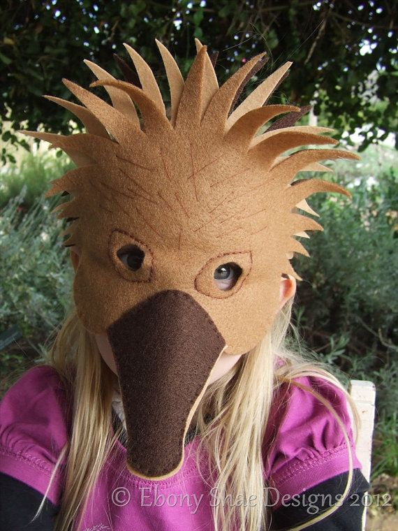 Hedgehog mask PATTERN/ Australian Echidna mask PATTERNS. Digital ...