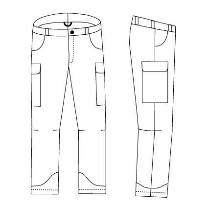 Image result for sketch of trekking pants